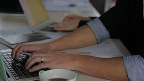 Modern man businessman working on a laptop stock video footage