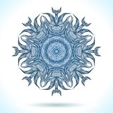 Modern mandala or snowflake design Royalty Free Stock Photos