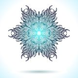 Modern mandala or snowflake design Stock Photo