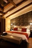 Modern mansard bedroom Stock Image
