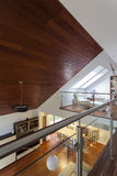 Modern mansion with wooden ceiling stock image
