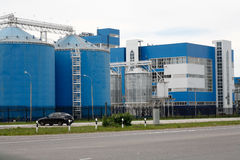 Modern manufacturing plant. Modern large plant for the production of potable alcohol. Cleaner production Royalty Free Stock Photo
