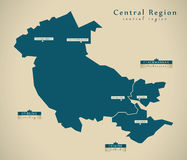 Modern Map - Central Region UK Scotland Royalty Free Stock Photos