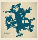 Modern Map - Columbus Ohio city of the USA Stock Image