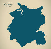 Modern Map - Conwy Wales UK Stock Image