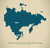 Modern Map - Dalnewostotschny Russia RU Royalty Free Stock Photos