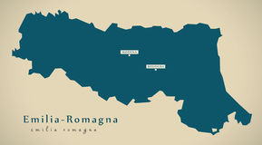 Modern Map - Emilia-Romagna IT Italy Royalty Free Stock Photography