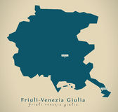 Modern Map - Friuli-Venezia Giulia IT Italy Royalty Free Stock Image