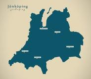 Modern Map - Jonkoping Sweden SE Stock Image