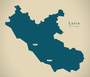Modern Map - Lazio IT Italy Royalty Free Stock Photography