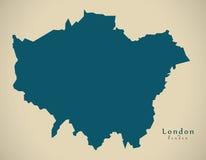 Modern Map - London UK  England Royalty Free Stock Images