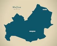 Modern Map - Molise IT Italy Royalty Free Stock Images