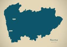 Modern Map - Norte Portugal PT Stock Photos
