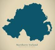 Modern Map - Northern Ireland UK Stock Photography