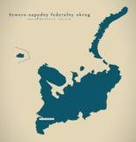 Modern Map - Sewero-Sapadny Russia RU. Illustration Royalty Free Stock Photo
