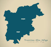 Modern Map - Trentino - Alto Adige IT Italy Royalty Free Stock Images