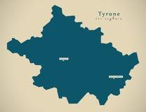 Modern Map - Tyrone UK Northern Ireland Royalty Free Stock Images