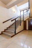Modern marble stairs. Huge modern marble stairs in luxury stylish interior Royalty Free Stock Images