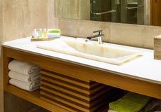 Modern Marble Wash Hand Basin Stock Image