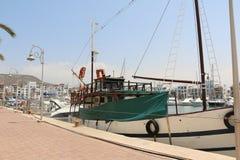 Modern marin- mycket av härliga yachter i den Agadir staden i Marocko i Afrika Arkivbild