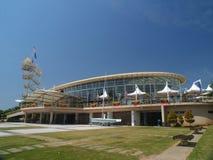 Modern Marina Yacht Club. A view of the modern design of the Marina Yacht Club royalty free stock photo