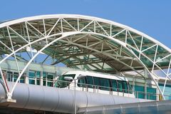 Modern mass transit transport. In station Stock Photography