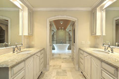 Modern master bath Stock Photo