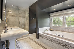 Modern master bath Royalty Free Stock Image