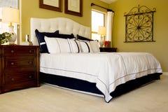 Modern master bedroom Stock Image