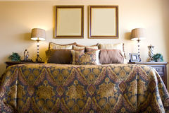 Modern master bedroom royalty free stock photography