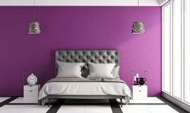 Modern master bedroom Stock Photo