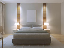 Modern master bedroom design Royalty Free Stock Photo