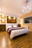 Modern master bedroom interior stock photo