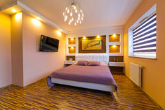 Modern master bedroom interior Royalty Free Stock Image