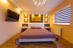 Modern master bedroom interior Royalty Free Stock Photo