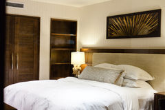 Modern master bedroom Stock Photography