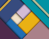 Modern material design template. Blue green and off white colors palette scheme. Material design trendy background. Geometric shapes and natural colors balance Stock Photos