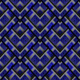 Modern meander naadloos patroon Abstracte zwarte blauwe gestreepte gre Royalty-vrije Stock Foto