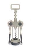 Modern mechanical corkscrew. Modern mechanical hand corkscrew against white background Royalty Free Stock Photos