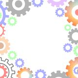 Modern Mechanisme Industrieel Concept Patroon van technologie het Veelhoekige Toestellen vector illustratie