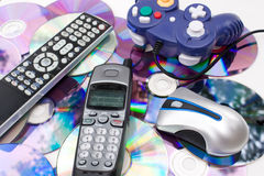 Modern Media Controllers Stock Image