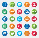 Modern media design elements. Royalty Free Stock Photo