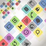 Modern media icons Stock Photos