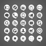 Modern media icons Stock Photo