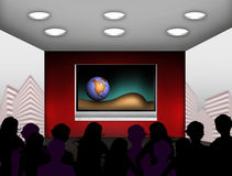 Modern media room Stock Image