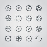 Modern media web icons collection Royalty Free Stock Photography