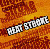 Modern medical concept: Heat Stroke on the Yellow Brick Wall . Stock Photo