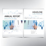 Modern medical cover page, vector template Royalty Free Stock Photography