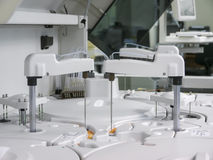 Modern medical equipment for centrifuge bio materials. Modern medical equipment for centrifuge blood and urine testing stock photo