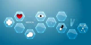 Modern medical innovation technologies concept. Infographics. Ab royalty free illustration